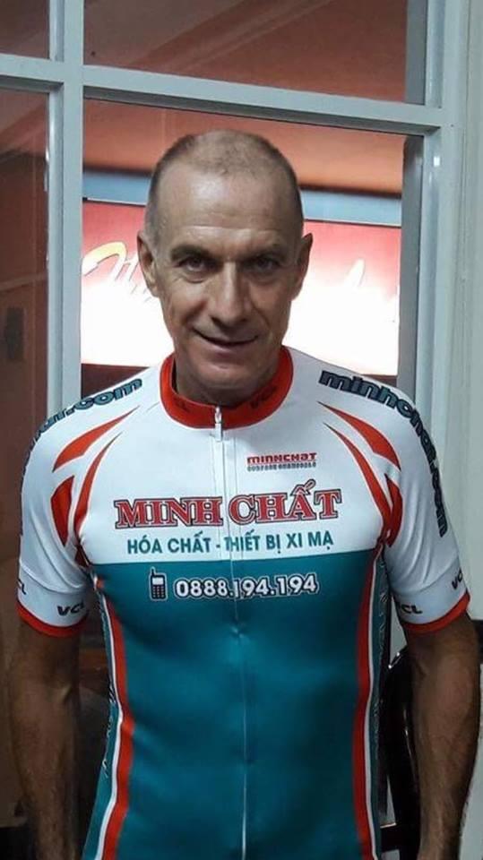 Claude Perzo từng thi đấu Tour de France chính thức thi đấu cho đội Minh Chất VCL Đà Nẵng